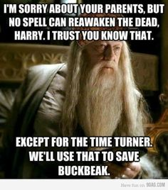 Except Buckbeak never actually died because they'd already used the time turner in the future to save him.  Any good geek knows this is the paradox of time travel.