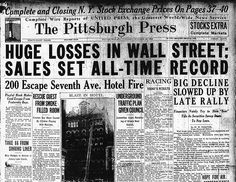 Help on history about the Stock Market of 1929?