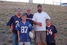 Duane, Keith, Kurt, Kole and Dylan at the Bronco game