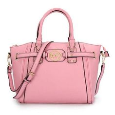 Charming Michael Kors Pebbled Leather Large Pink Satchels Make You To BeCrazy