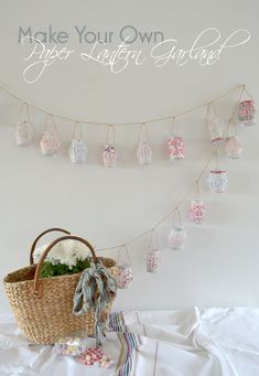 Craft Time:  DIY Paper Lantern Garland Just use reds and golds to make it perfect for Deepawali