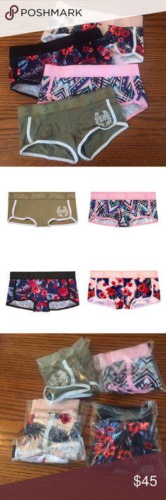 Victoria's Secret Pink Boyshorts Bundle New in package. 4 pairs of Victoria's Secret Pink Boyshorts. PINK Victoria's Secret Intimates & Sleepwear Panties