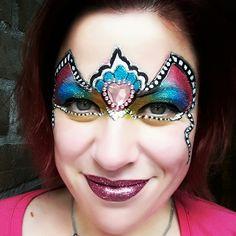 Facepaint mask inspired by Marcela Murad