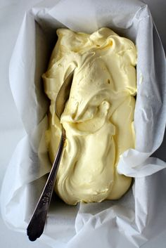 // Lemon Curd Ice Cream