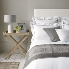 Savoy Bed Linen Collection - Mink from The White Company