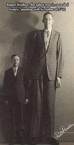 Robert was  8 ft 11.1 at his tallest and died at age 22. - My goodness