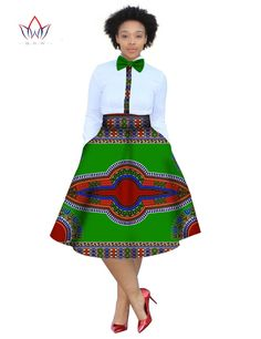 2017 christmas dress Plus Size 2 Pieces African Print Dashiki Shirt Skirt Set Bazin Rche Femme Africa Clothing 5xl natural WY773