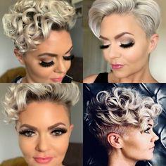 Short Curls, Short Curly Hair, Curly Hairstyles, Hair Ideas, Stylists, Logo, Hair Styles, Hair Plait Styles, Logos