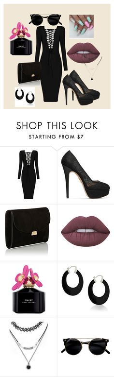 """""""Black is such a happy color"""" by dzenita-219 on Polyvore featuring moda, Charlotte Olympia, Mansur Gavriel, Lime Crime, Marc Jacobs, Bling Jewelry i Forever 21"""