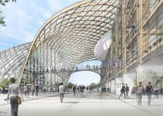 Shigeru Ban proyecta una gran estructura serpenteante de madera para las oficina centrales de Swatch © Swatch Group
