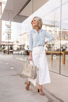 White Pants for Work - Work Wear Wednesday - Loverly Grey Workwear Fashion, Fashion Outfits, Fashion Blogs, Fashion Clothes, Fashion Fashion, Street Fashion, Fashion Ideas, Fashion Trends, Stylish Outfits