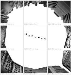 Los bonitos collages en blanco y negro de Ng Weijiang en Instagram