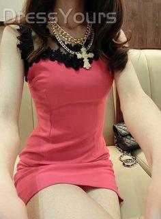 Celebrity New Summer Korean Slim Off Shoulder Night Club Sexy Dress: dressyours.com