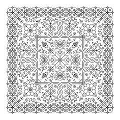 Printable blackwork cross stitch patterns