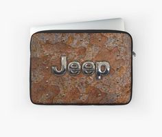 Rustic Jeep with chrome typograph  Laptop Sleeves #LaptopSleeves #Laptop #Sleeves #toyota #retro #rustic #abstract #volkswagen #vehicle #car #autocar #suv #offroad #rangerover #landrover #4x4 #offroad #jeep