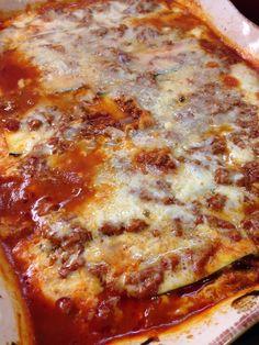 Zucchini Cheesy Lasagna Casserole (THM - S, low carb)
