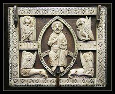 Montbenoît, Franche-Comté, abbey church, stalls, bench-end wood relief