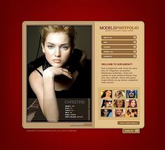 Model Agency Website Templates by Flayer