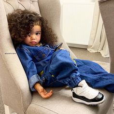 😒 Who's feeling this mood today? So Cute Baby, Cute Mixed Babies, Cute Black Babies, Black Baby Girls, Black Kids, Cute Baby Clothes, Cute Babies, Cute Kids Fashion, Baby Girl Fashion