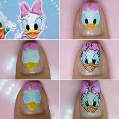 Disney Inspired Nails, Disney Nails, Sculpted Gel Nails, Nail Drawing, Simple Acrylic Nails, Kawaii Nails, Nails For Kids, Cat Nails, Cute Nail Art
