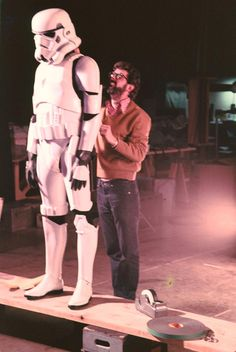George Lucas putting the final touches on an Imperial Stormtrooper