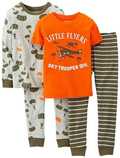 b217438fb0 Carter s Baby Boys  4 Piece PJ Set (Baby) Includes one long-sleeve top