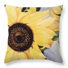 The Yellow  Throw Pillow by Saifon Anaya