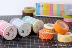 Washi tape from Target. Good to know.