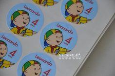 Etiquetas redondas - Caillou  :: flavoli.net - Papelaria Personalizada :: Contato: (21) 98-836-0113 - vendas@flavoli.net