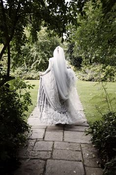 Katie Shillingford on her wedding day wearing Gareth Pugh