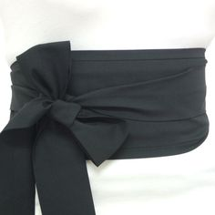 Looby Lou Obi belt  Plain Black by loobyloucrafts on Etsy, $24.00