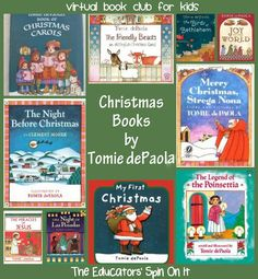 Christmas Books by Tomie dePaola this month's Virtual Book Club featured author.  Come join the fun!  hosted by 30+ blogs ~ The Educators' Spin On It