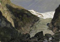 Walter Leistikow (German, Gletscher [Glacier], Gouache on paper on panel, 32 x 46 cm. Online Katalog, Berg, Gouache, Landscape Paintings, Modern Art, German, Artsy, Fine Art, Mountains