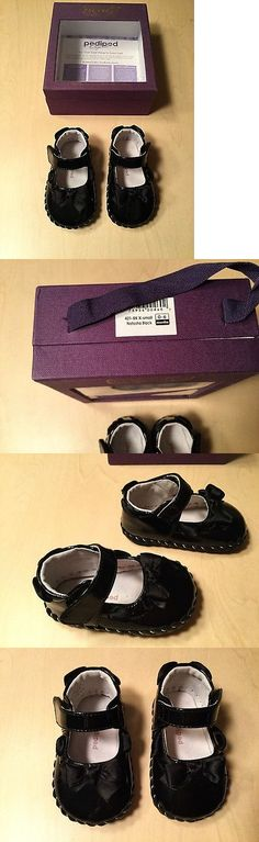 Baby Girls Shoes: Pediped Infant Baby Girls Shoes Natasha Style Black Patent Leather Size 0-6 M BUY IT NOW ONLY: $15.99