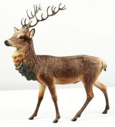 A Christmas reindeer or stag deer papier-mache candy container with metal antlers and glass eyes The Night Before Christmas, Antique Christmas, Christmas Past, Father Christmas, Christmas Items, Country Christmas, Christmas Candy, Primitive Christmas, Christmas Images