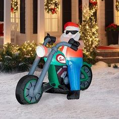 christmas inflatable santa on motorcycle bing images