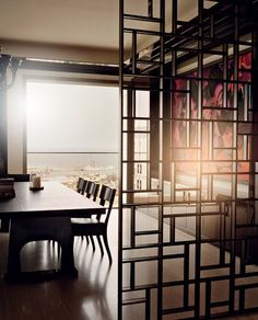 Room partitions are becoming more and more popular in interior design. I must say, they are a clever and easy way to improve the functionality of living space. They break a living space into distinct areas, change the appearance of a room, add privacy, and they also can be used for storage and hiding clutter. Today we are spoilt for choice as they come in all shapes, sizes and styles from decorative folding screens, sliding doors and panels, curtains dividers, to bookcases…