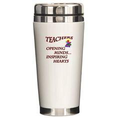 Sold -  Teachers opening minds and inspiring hearts Ceramic Travel Mug