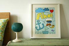 Poster Ahoi Seebär von Tante Tin auf DaWanda.com