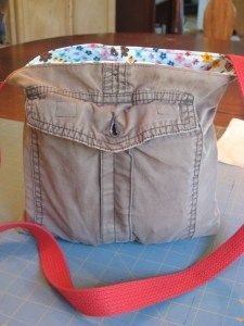 purse made from cargo pants
