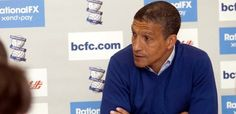 Chris Hughton facing the media ahead of the play-off showdown with Blackpool. May 2012.