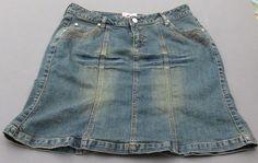 Western Blue Jean Skirt  Roper Cowgirl Size M #Roper #SlightlyFlared