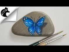 How to paint a butterfly on a rock – Rock painting – painted rocks ideas butterfly Butterfly Painting, Mandala Painting, Pebble Painting, Pebble Art, Stone Painting, Diy Painting, Painted Rock Animals, Painted Rocks Kids, Painting Videos