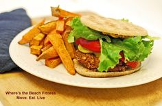 Tasty Tuesday - Vegan TVP Veggie Burger via Where's the Beach Fitness
