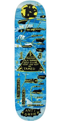 Anti-Hero Russo Starchart Skateboard Deck - Blue - x