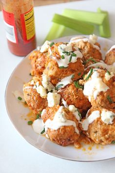 This is an easy dinner idea for when it is a busy weeknight! Dinner Recipes Easy Quick, Easy Appetizer Recipes, Best Appetizers, Easy Meals, Buffalo Chicken Meatballs, Chicken Meatball Recipes, Slow Cooker Recipes, Cooking Recipes, Top Recipes