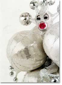 planet of the apes/court jester/one night stand in Venice/silicone boob job Christmas ornament Leigh Bowery