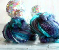 Glitter Collection Tinsel Toes 38 oz // Wool Drum by atomicblue