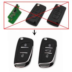 Modified Remote Flip Key 433MHz ID46 chip for PEUGEOT 107 207 208 307 308 407 Car Keyless Entry Fob (CE0536 ASK)