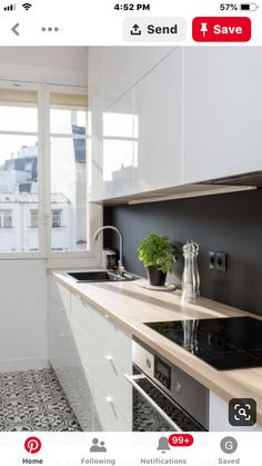 Small Kitchen Remodel Ideas to Make the Most of Your Space - Easy DIY Guide Kitchen Flooring, Kitchen Backsplash, Kitchen Countertops, Kitchen Cabinets, Kitchen Island, New Kitchen, Kitchen Decor, Kitchen White, Kitchen Wood